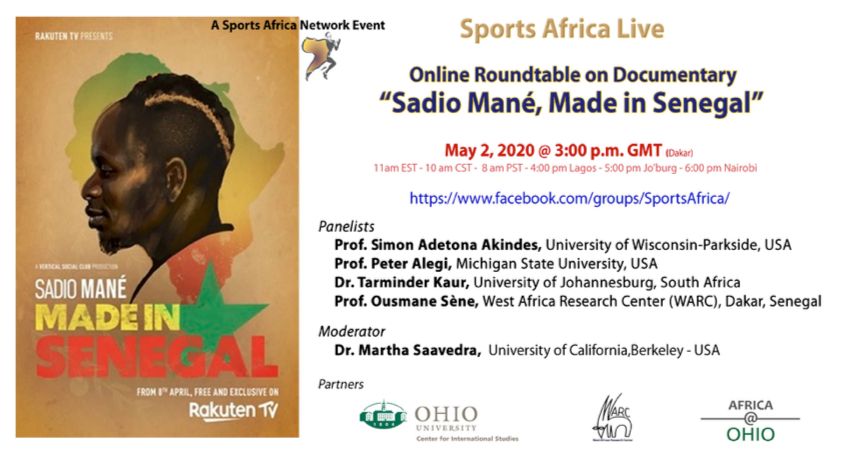 """Sports Africa Network's Virtual Documentary Discussion: """"Sadio Mane, Made in Senegal"""""""